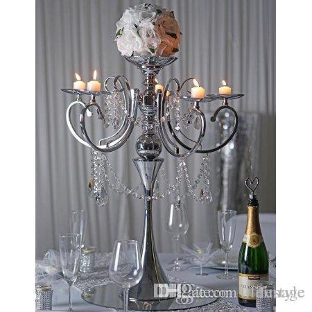 Grosshandel Metall 5 Arme Kerzenhalter Romantische Vintage Dekoration
