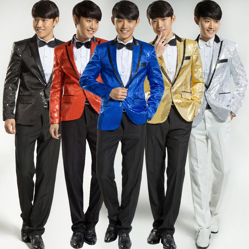 2019 Paillette Male Master Sequins Dresses Stage Costumes Men Suit MC Host  Clothing Singer Suits Blazer Show Jacket Outerwear W838 From Lookpack 905722575ef8