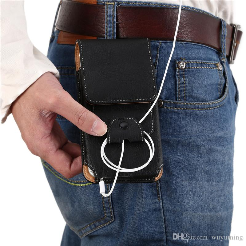 Waist Bag for Samsung Galaxy S8 Plus Phone Pouch Case Belt Clip Bag Men Business Wallet for Apple iphone Cover