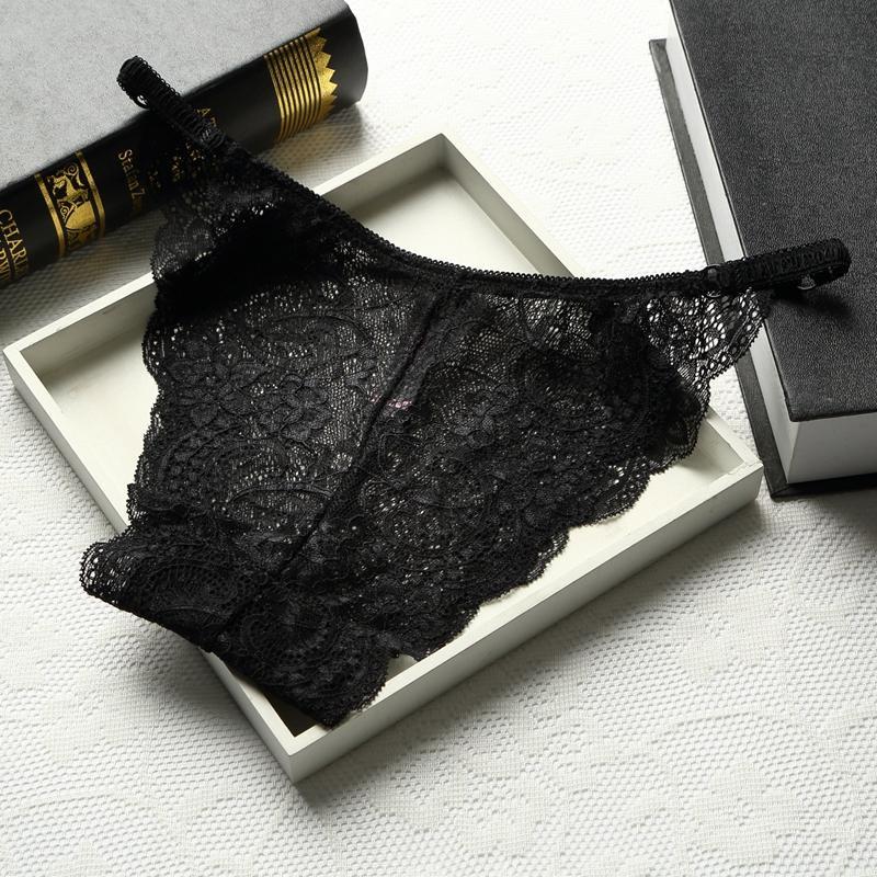 10 pz / lotto vendita calda US / EU stile pizzo biancheria intima sexy i delle donne pantaloni a vita bassa intimates mutandine sexy raso mutandine traslucide lingerie sexy