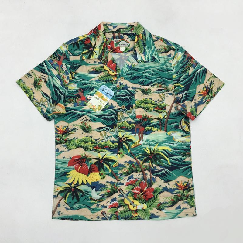 Compre BOB DONG Homens Aloha Camisa De Cruzeiro Tropical Luau Praia ... e9a3be46cf609