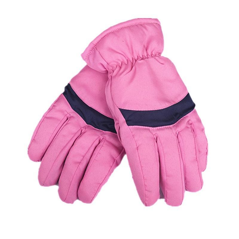 Men Women Winter Cotton Warm Ski Gloves Windproof Waterproof Non-slip Full Finger Skating Skiing Gloves Skiing & Snowboarding