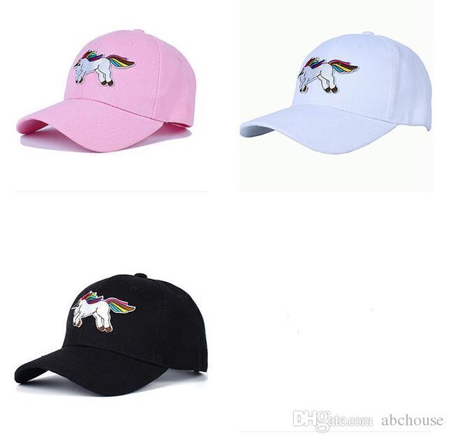 39e77ae67ca019 Adult Unicorn Baseball Cap For Men Women Lovely Snapback Cap ...