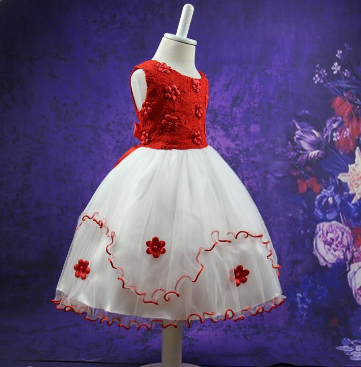 Kids Girls Flower Dress Baby Girl Butterfly Birthday Party Dresses Children Fancy Princess Ball Gown Wedding Clothes