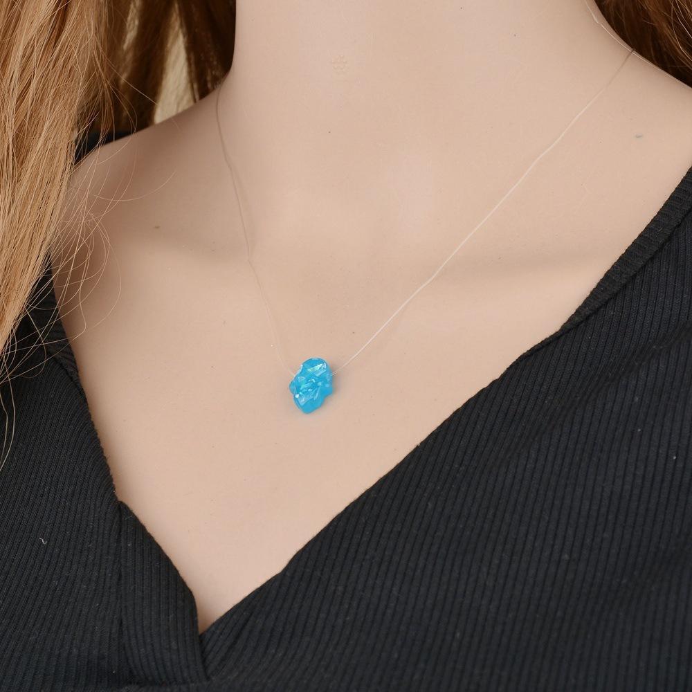 Mode Transparent Angelschnur Unsichtbare Kette Halskette Minimalismus Chocker Halsketten Für Frauen Mädchen Schmuck Geschenk