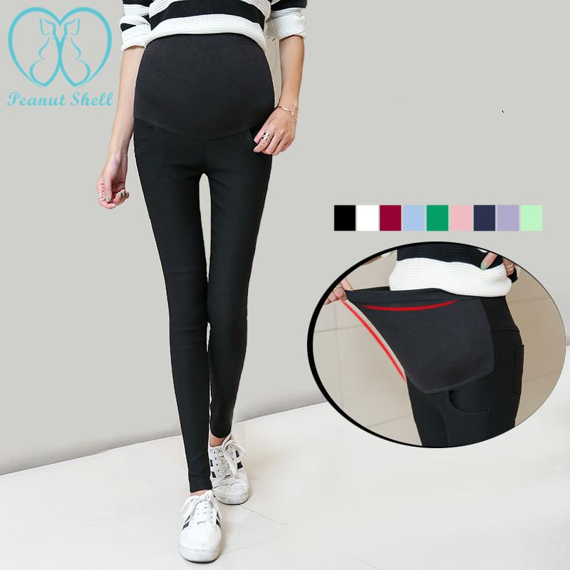 a2a6aa2d597f5d 2019 6663# Spring Belly Skinny Maternity Legging In Elastic Cotton  Adjustable Waist Pencil Pregnancy Pants Clothes For Pregnant Women From  Henryk, ...