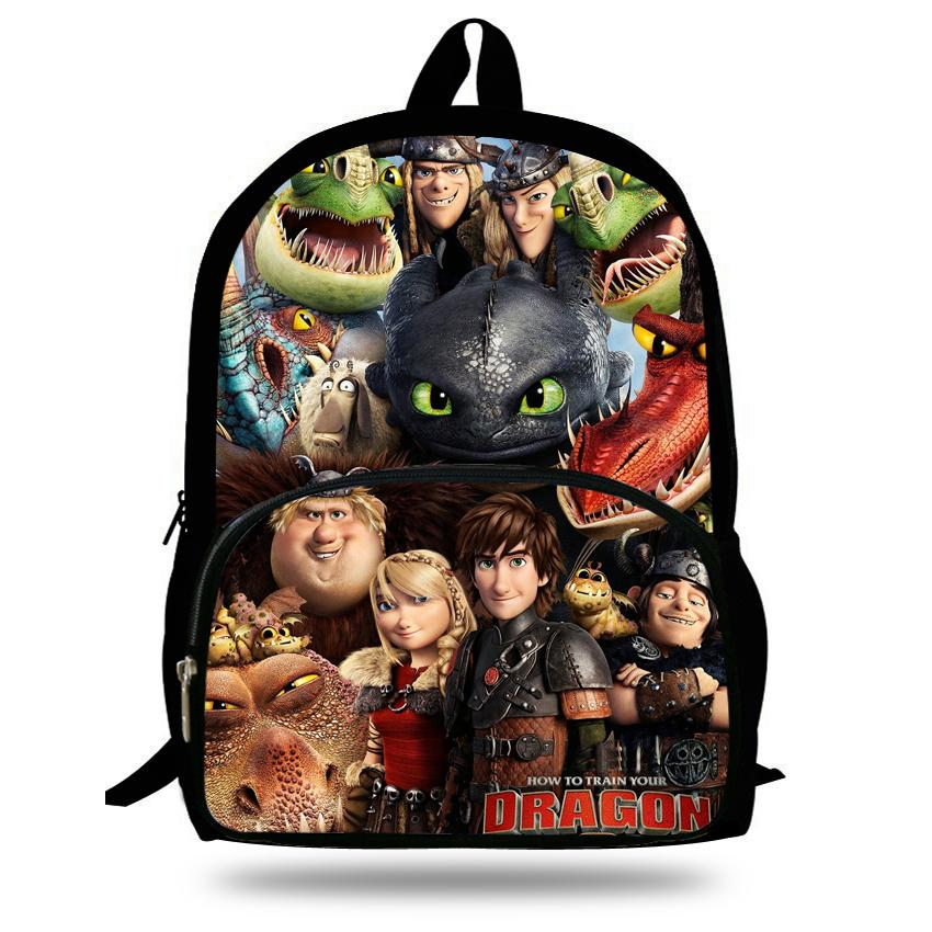 16 Inch Boys Bags Kids Backpack How To Train Your Dragon Bag Pupil Book Bag  Age 7 13 Children School Bags For Teenagers Y18110107 Backpacks And Bags  Bags ... 5b02590112