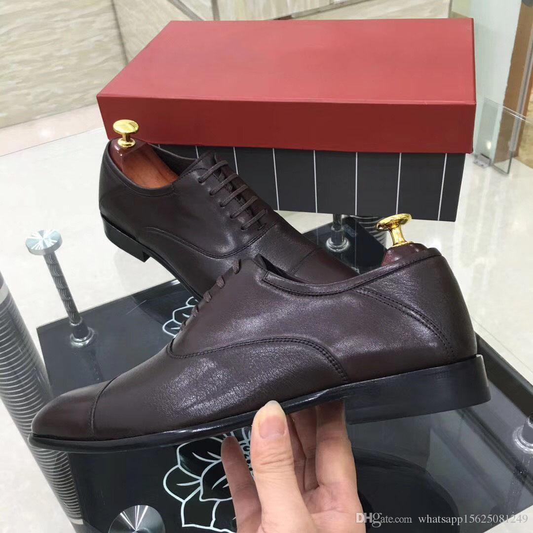 2018 new high-end fashion shoes, fashion brand, fashion design leather shoes, size 38-45 shoes luxury business men's leather shoes Chris, fr