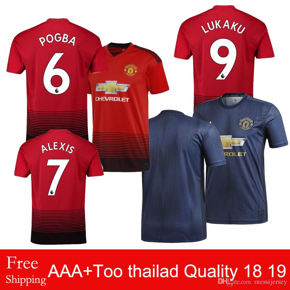 bdcd26720 2018 Manchester United Jerseys Home 18 19 Men s Football POGBA ...
