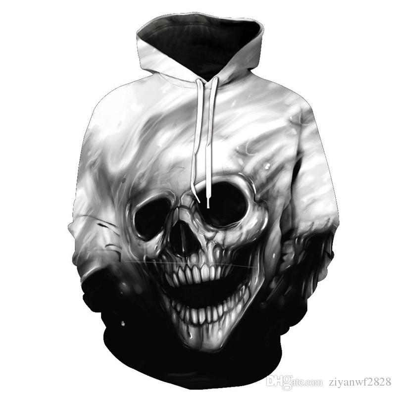 d3f1c81bd men 3d printed hoodie skull Fashion Anime Ahegao Men 3d Sweatshirts Print  Golden Lightning Lion Hooded Hoodies Thin Hoody Tracksuits Tops