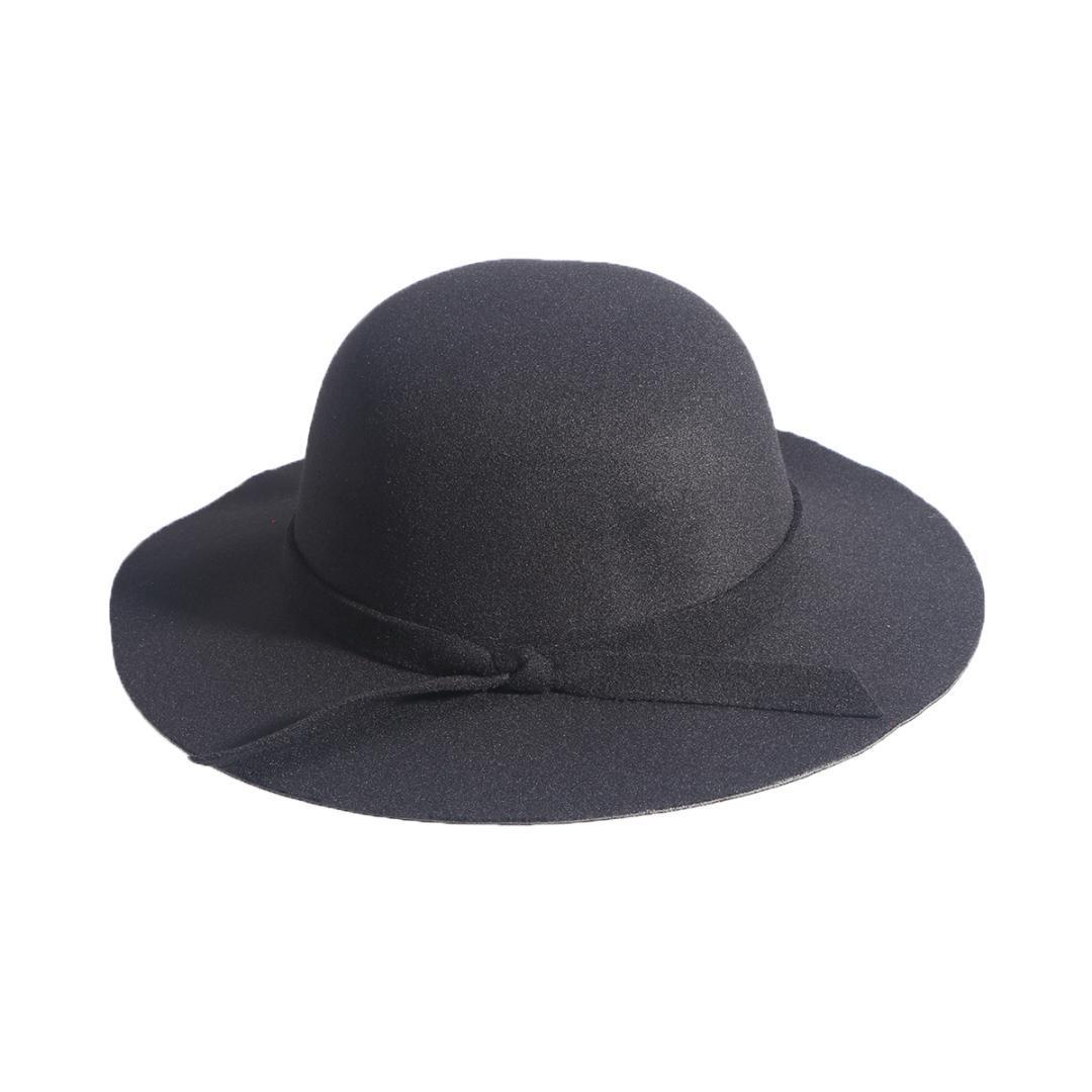 cbc9b76c582c4 Compre Sombrero De Jugador De Bolos De Fieltro De Lana Vintage Para Niñas  De Niños Gorra Derby Dome Hat Con Bowknot Negro A  46.42 Del Towork