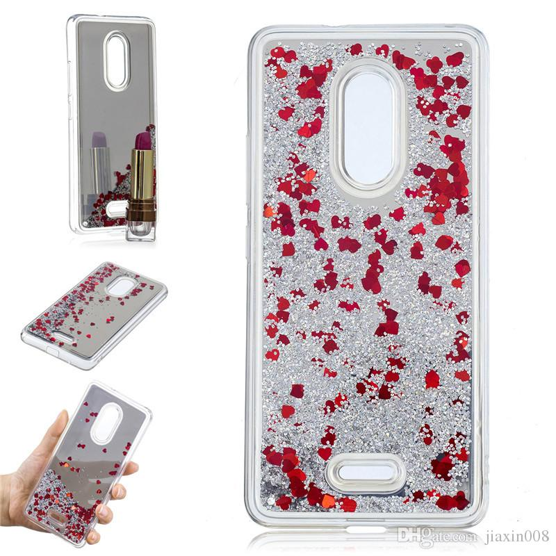 hot sale online 02e41 03395 Cover For Alcatel 3C 5026D 5026 5026A Dual Case Quicksand Flash Glitter  Powder Mirror Hard Phone Cases Covers