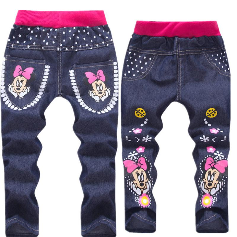 Baby Girl Clothing Cartoon Pattern Printing Clothes Kids Jeans Children Pants Summer Casual Denim Pants Baby Girls Jeans