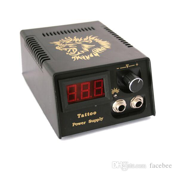 2018 Digital LCD Tattoo Power Supply + Foot Petal + Clip cord For Tattoo Gun Needle Ink Grip Kits