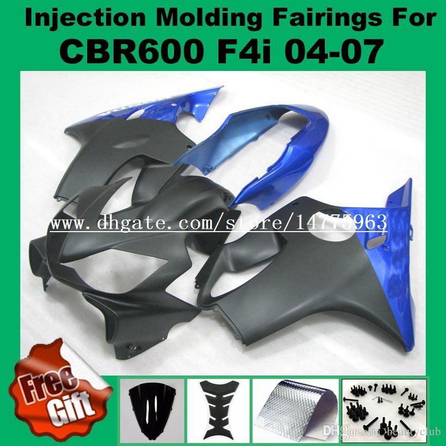 Carenados de inyección REPSOL para F4i HONDA CBR600F4i 04 05 06 07 CBR 600 F4i CBR600RR F4i 2004 2005 2006 2007 pre_drilled Carenado kits regalos