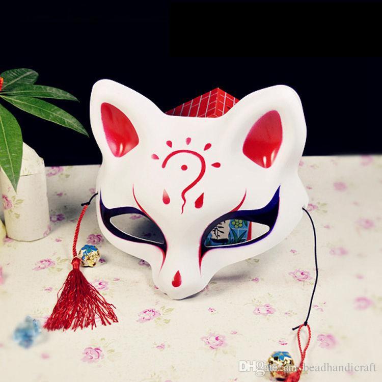 Schöne Party-Maske, halbe Gesichtsmaske, Fox-Maske, Cosplay-Maske für kostenlosen Versand