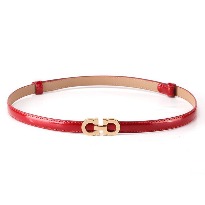 Summer Fashion Women Luxury Belts Female Patent Leather Designer Slim Dress Belt Ladies Rose gold Buckle Waist Belts