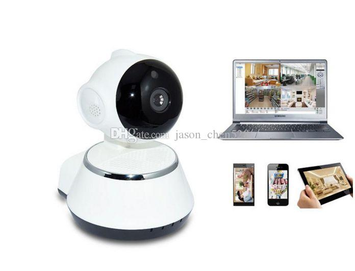Pan Tilt Wireless IP Camera WIFI 720P CCTV Home Security Cam Micro SD Slot Support Microphone P2P Free APP ABS Plastic with retail box