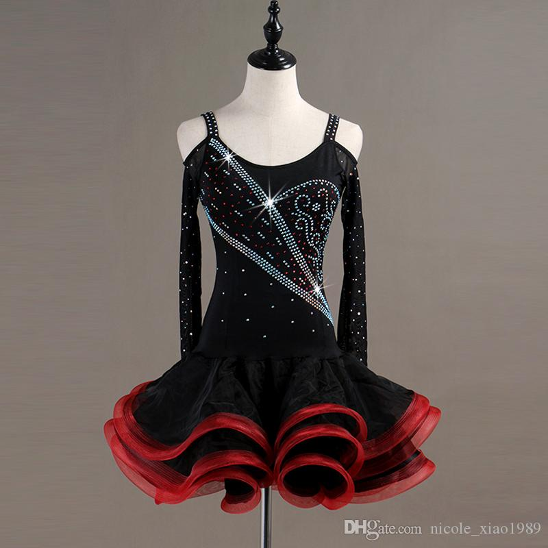 2307c0afb NEW Adult Girl Latin Dance Dress Women Salsa Tango Chacha Ballroom ...