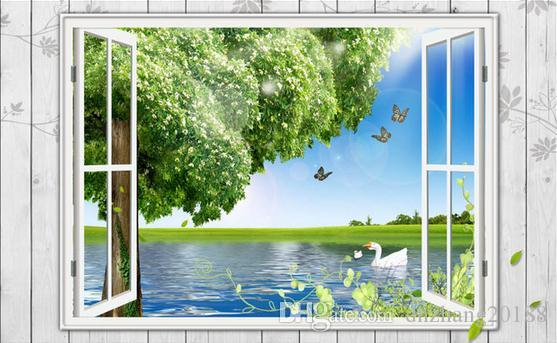 3d window scenery big tree tv background wall wall papers home decor rh dhgate com