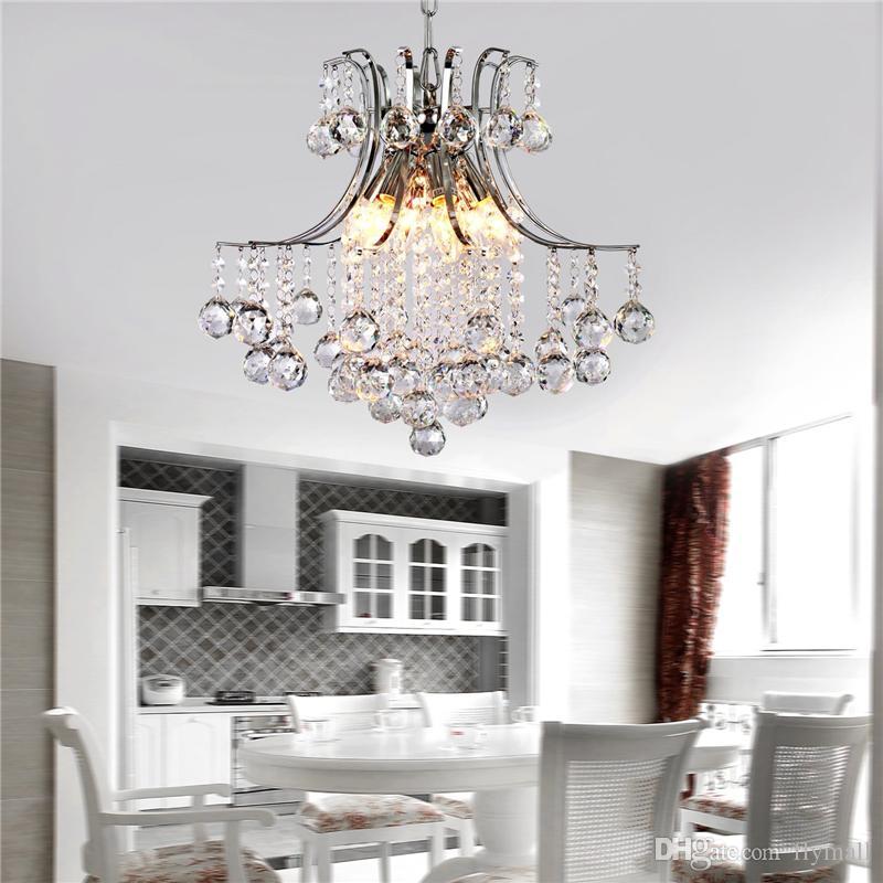 Lampadario moderno in cristallo contemporaneo con 6 lampade a sospensione Lampada a soffitto a LED soggiorno Sala da pranzo Corridoio