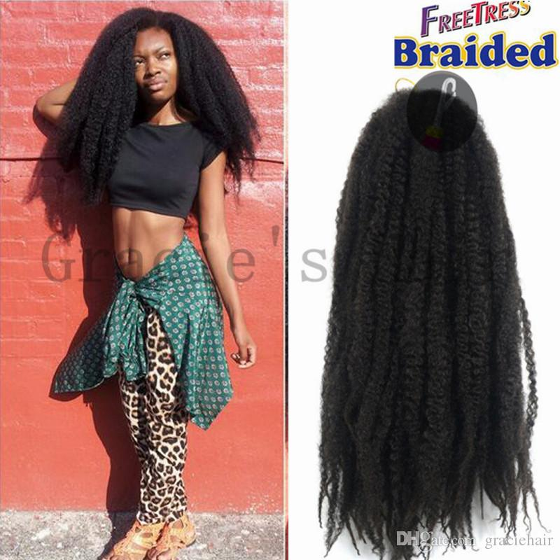 18inch 100g Afro Kinky Marley Braiding Hair Senegalese Twist Curly
