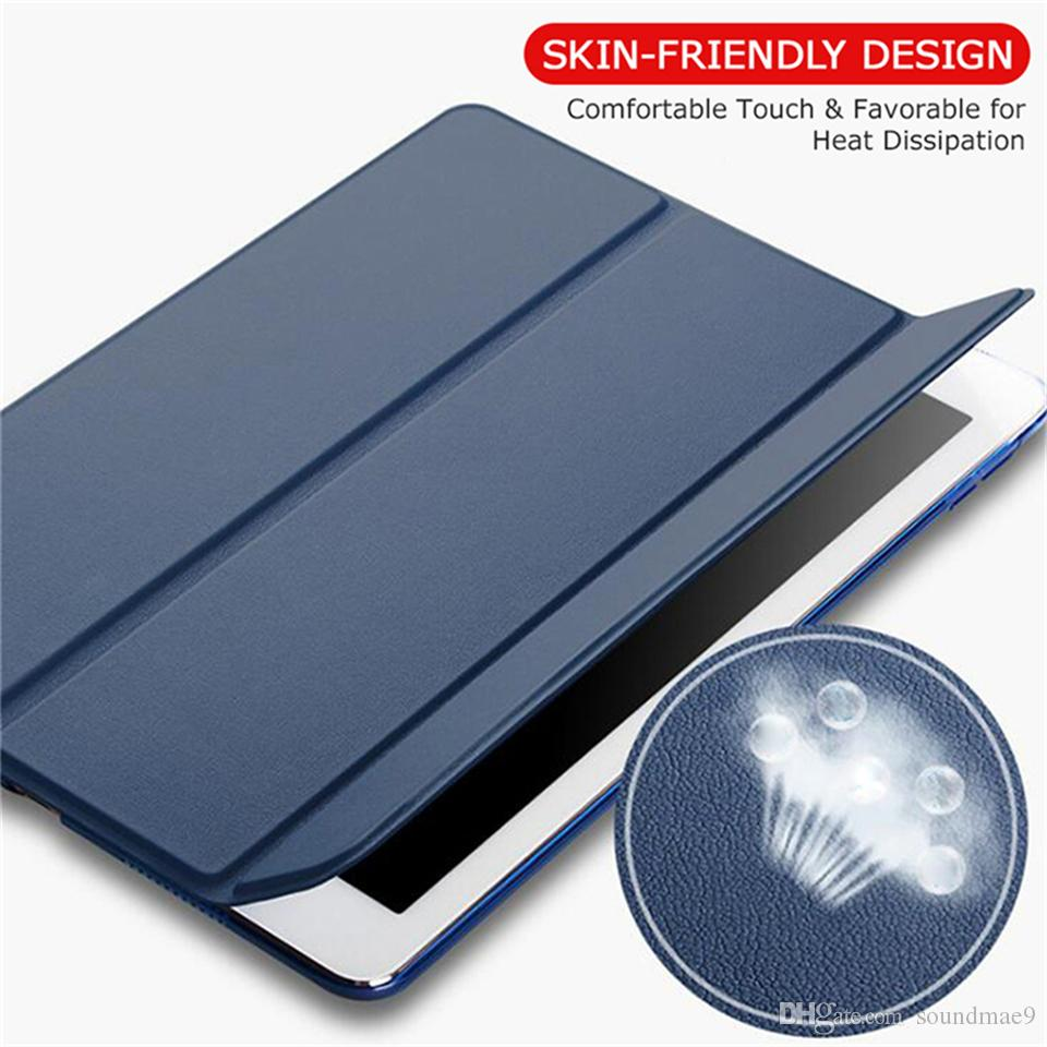 Ultra thin Auto Sleep Smart Filp Hard PC Back Cover for iPad 2 3 4 5 6 Air 2 mini 3 4 Pro 12.9 11 10.5 9.7 2017 2018 Opp
