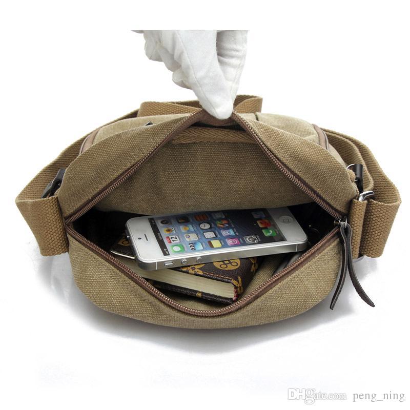 Men's Fashion Outdoor sports Travel Bag Canvas Men Messenger Bags Vintage Style Casual Multifunction Shoulder Bags