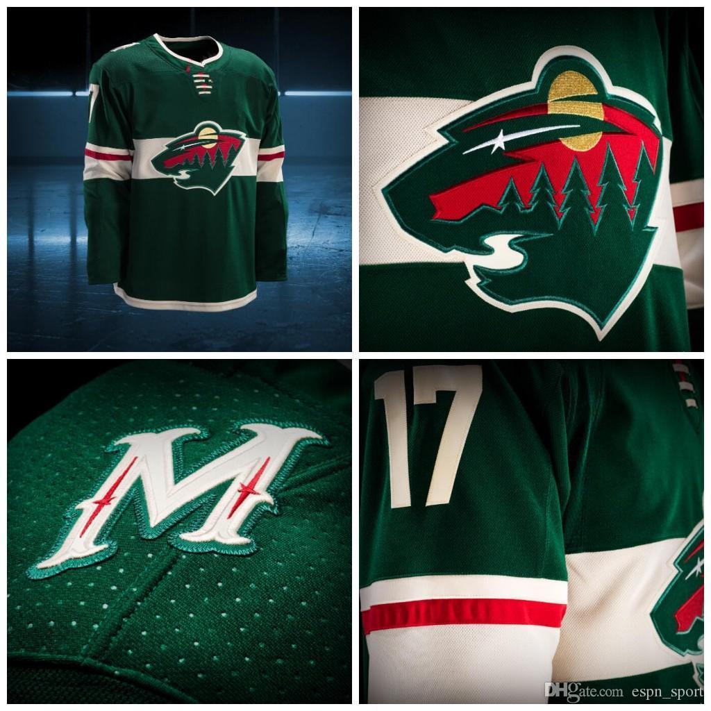 reputable site 60d95 eddb3 Minnesota Wild Jerseys 2017-2018 Season New team jerseys Custom  Personalized Hockey Jerseys 100% Stich Embroidery Freeshipping