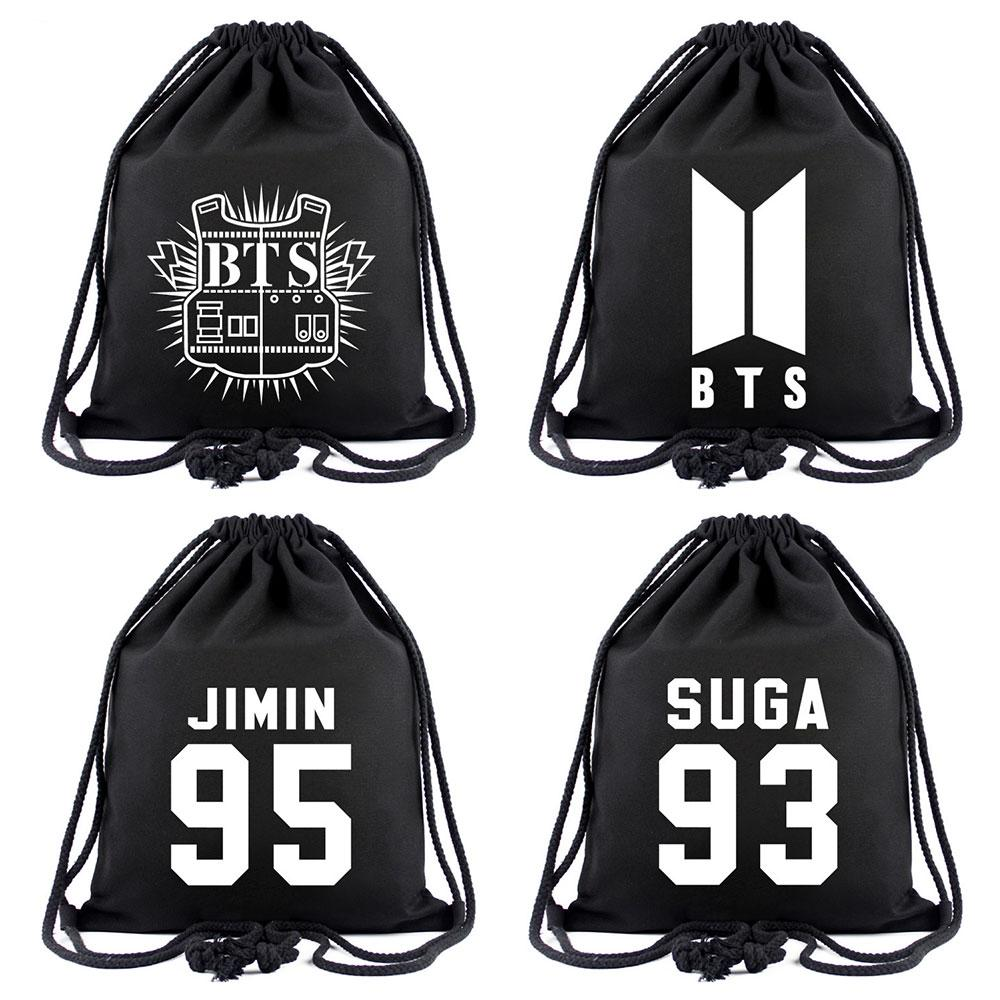 Harajuku ARMY Fans BTS Bangtan Boys Women Bagpack Teenagers Schoolbags Men  Backpacks Canvas School Bag String Drawstring Bag Mens Backpacks Swiss Army  ...
