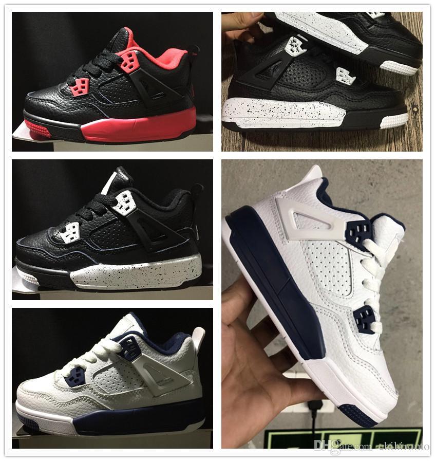 separation shoes 20aa1 e32cd Acheter Nike Air Jordan Aj4 Chaussures De Basket Ball Pour Enfants 4s Les  Chaussures De Maître Pour Enfants Sneakers Boys Girls 4 Chaussures De Sport  De ...
