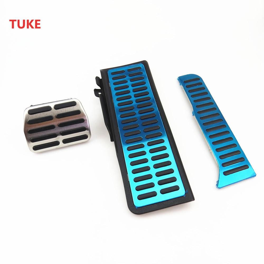 TUKE 3 Pcs Automatic Gearbox Car Accelerator Pedal Brake Pedal For VW JETTA RABBIT GOLF 1K0 723 131 1K1 864 551