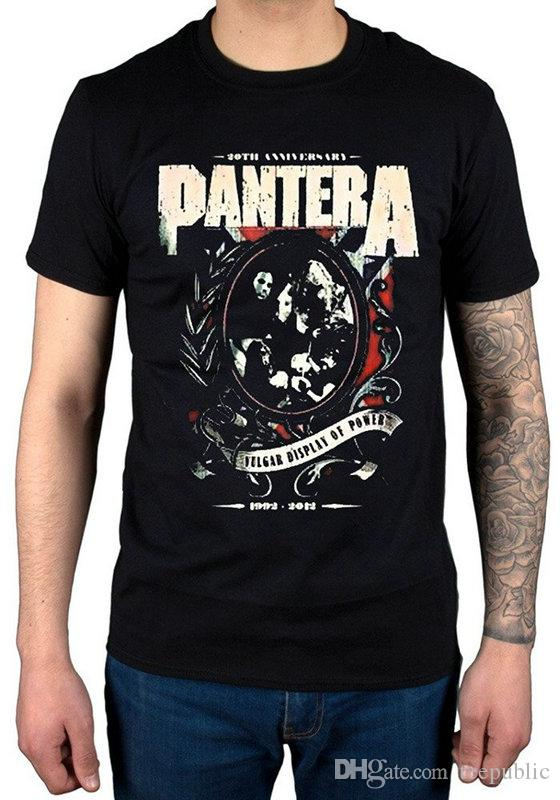4831b15a898 Fashion T Shirt Broadcloth Men s Pantera Anniversary Shield T-Shirt ...