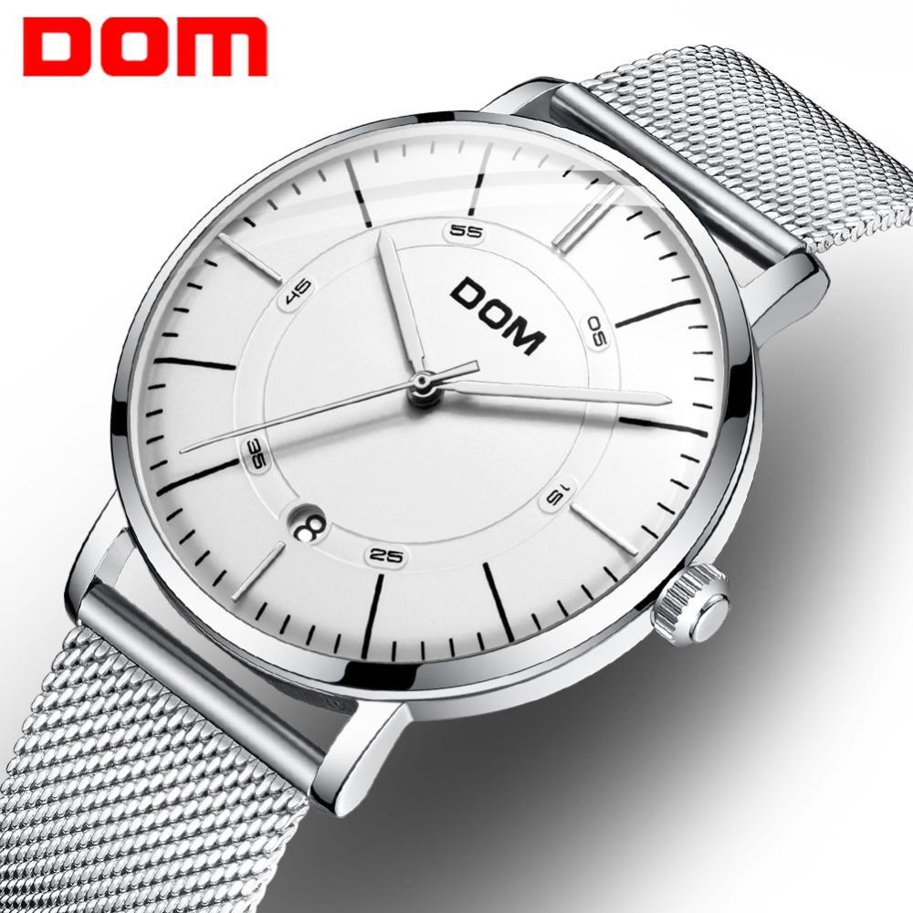 c856c53c2c9 Compre Homens DOM Relógios Relógio Mecânico Automático Relógio Masculino  Moda Relógio De Aço Inoxidável Top Marca De Relógio De Pulso Relogio  Masculino ...