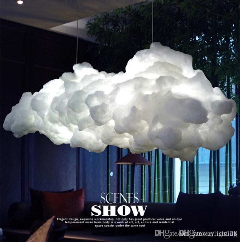 Smart Creative Romantic White Clouds Pendant Lights Led Lightning ...