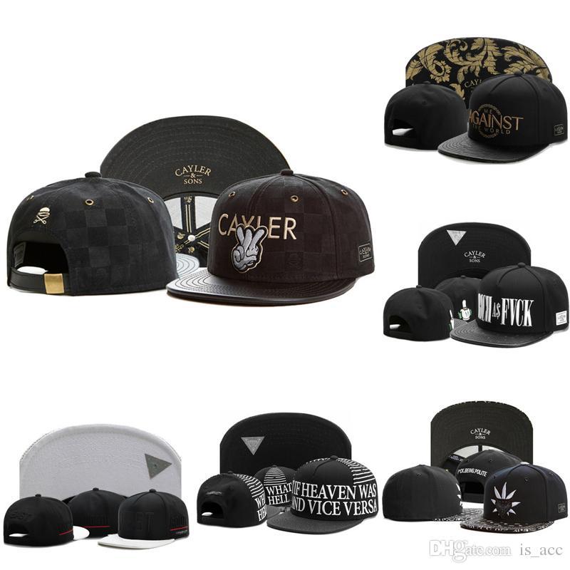 fb553d1f1da 2018 New Designer Snapback Hats Cap Cayler   Sons Black Baseball Football  Basketball Custom Caps Adjustable From Album Cheap Hats Richardson Caps  From ...