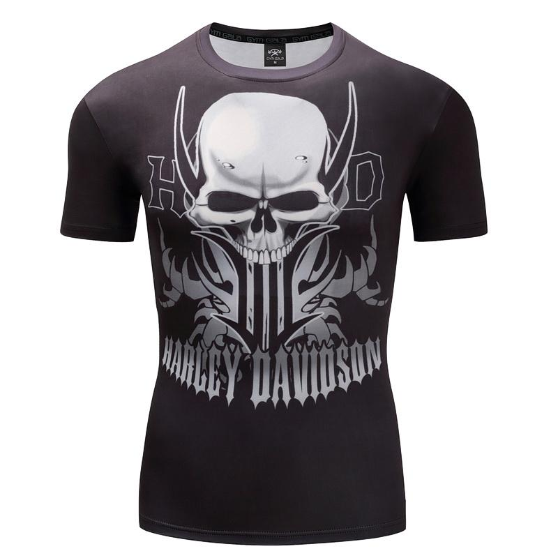 Davidson  Motor T-Shirt 3D Skull Short Sleeve Hip Hop Fashion Tee Shirt Print Designed Summer T shirt Men Brand Tops Tees