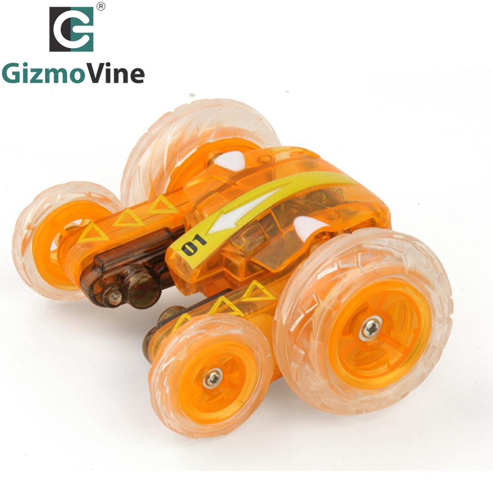 GizmoVine RC Car Remote Control Toy Stunt Car with Light Music Electric Toy Dancing Dump Dumper Rolling Rotating Wheel Bike