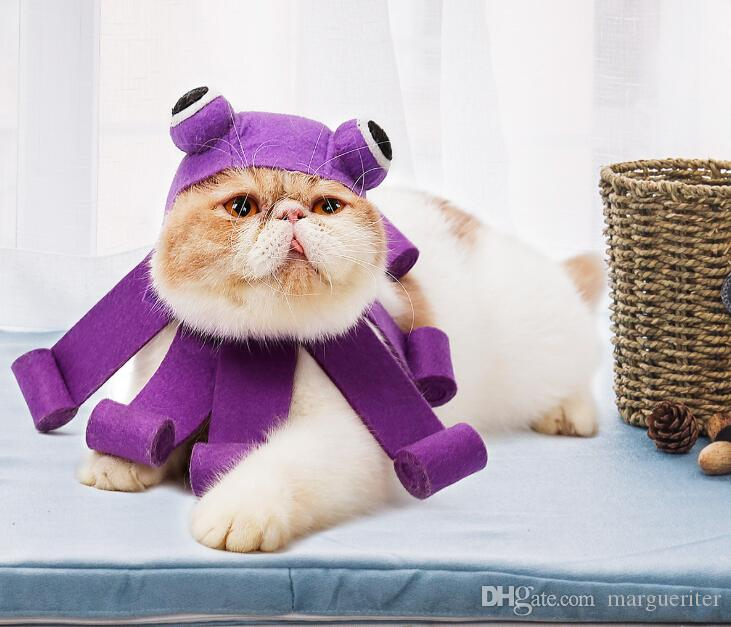 Halloween Cat Octopus Costumes Funny Cute Pet Cosplay Octopus Felt