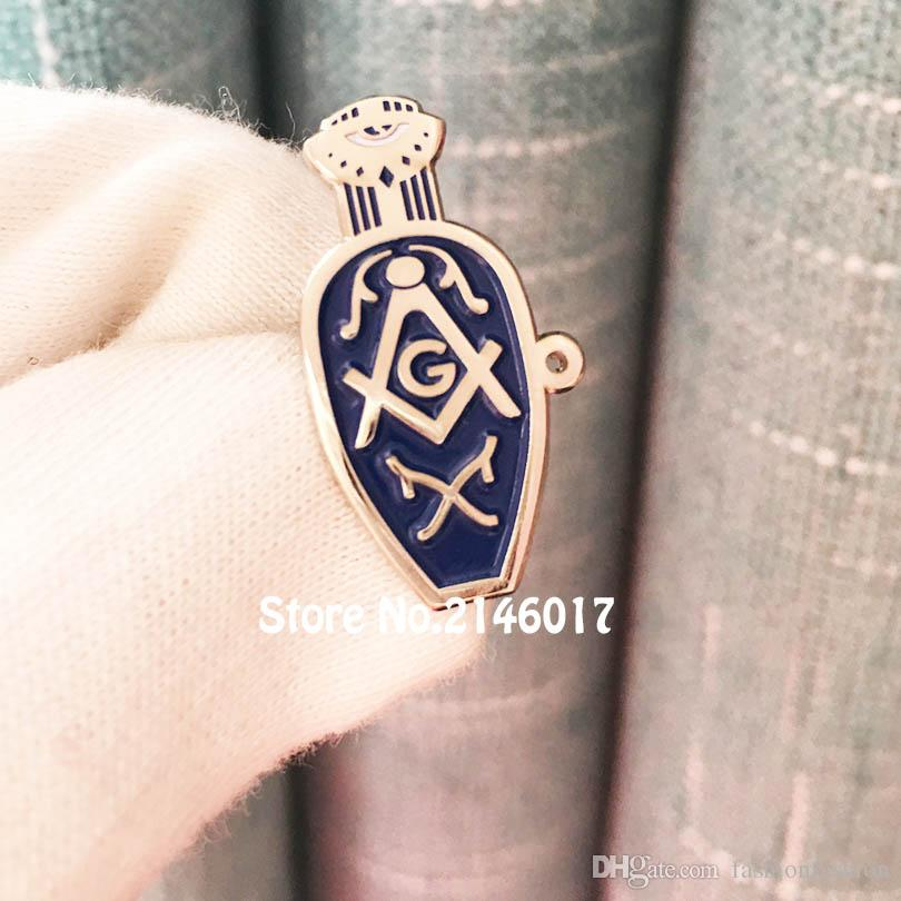 100pcs Freemason Slippers Lapel Pin Masonic Lady s Blue Slipper Pins Brooch  Protective Influence of Masons Badge Wives Widows