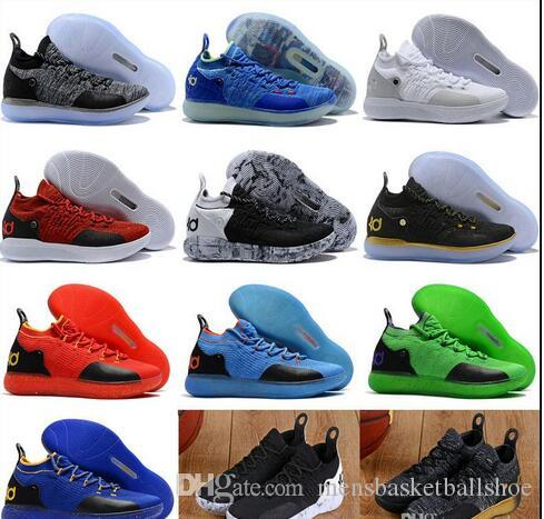 the best attitude 460a7 c9ff0 New KD 11 Basketball Shoes Black Grey Persian Violet Chlorine Blue Sneakers  Trainers Kevin Durant 11s Designer Shoes Mens Trainers Shoes Kevin Durant  New ...