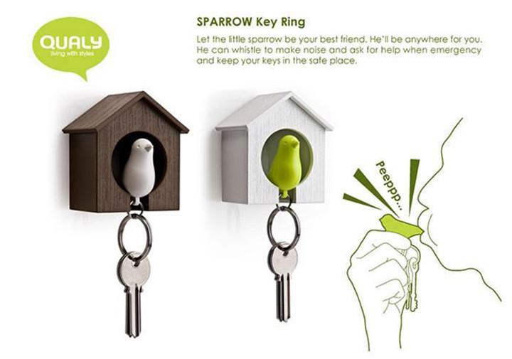Serçe Anahtarlık Anahtar Kanca Kuş Yuva Düdük Anahtarlık Evi Kuş Düdük Anahtarlık Anahtarlık Zinciri Duvar Kanca Sahipleri Plastik Düdük