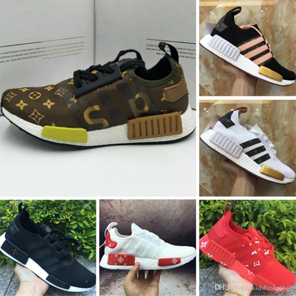2018 Boost Runner R1 x LW Jointly Running Shoes Runner R1 PK Stretch Fabric or Knit Boost Sports Sneakers