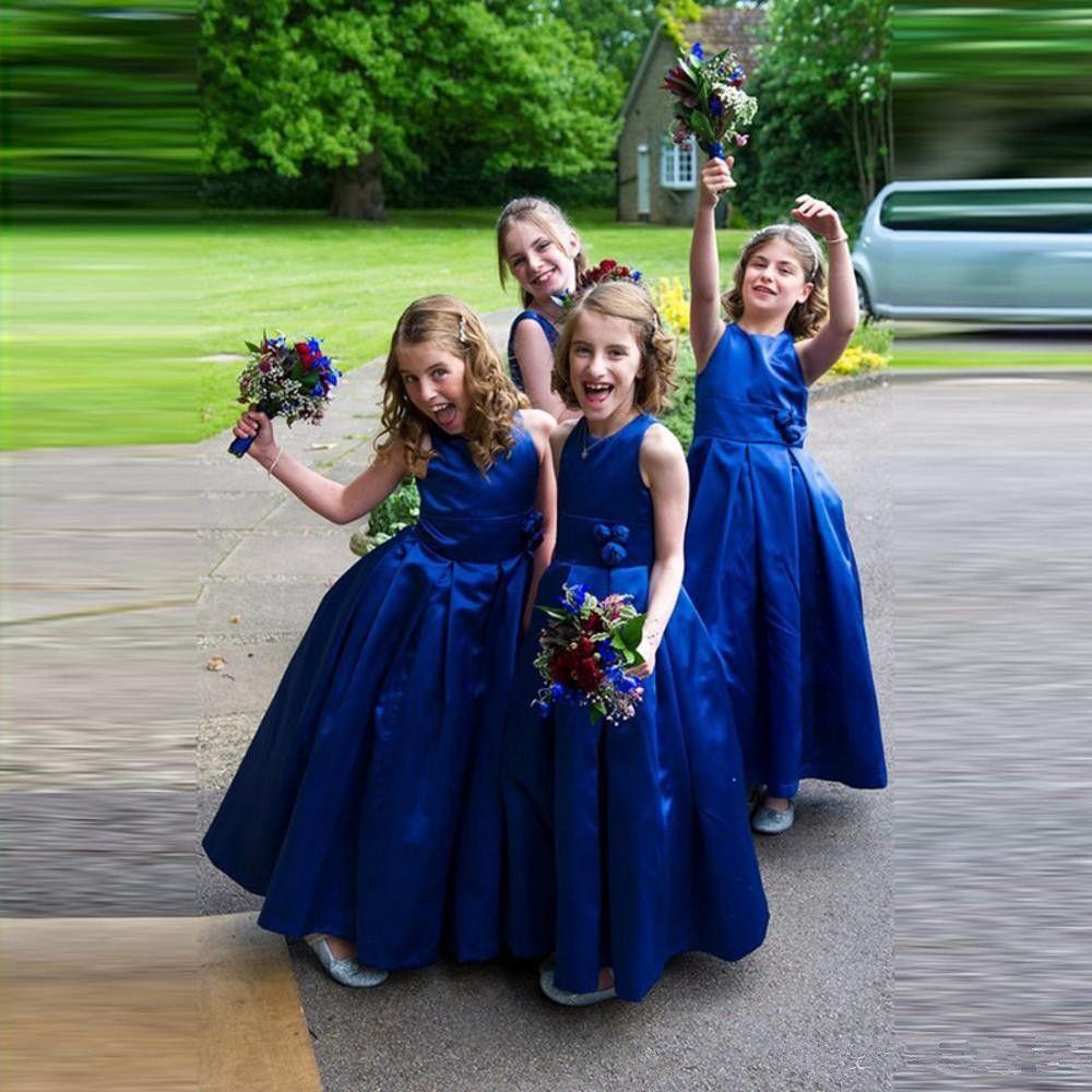 Vestido long royal blue flower girl dresses 2018 cheap handmade vestido long royal blue flower girl dresses 2018 cheap handmade flower cute taffeta little girls pageant dress for wedding burgundy flower girl dresses izmirmasajfo