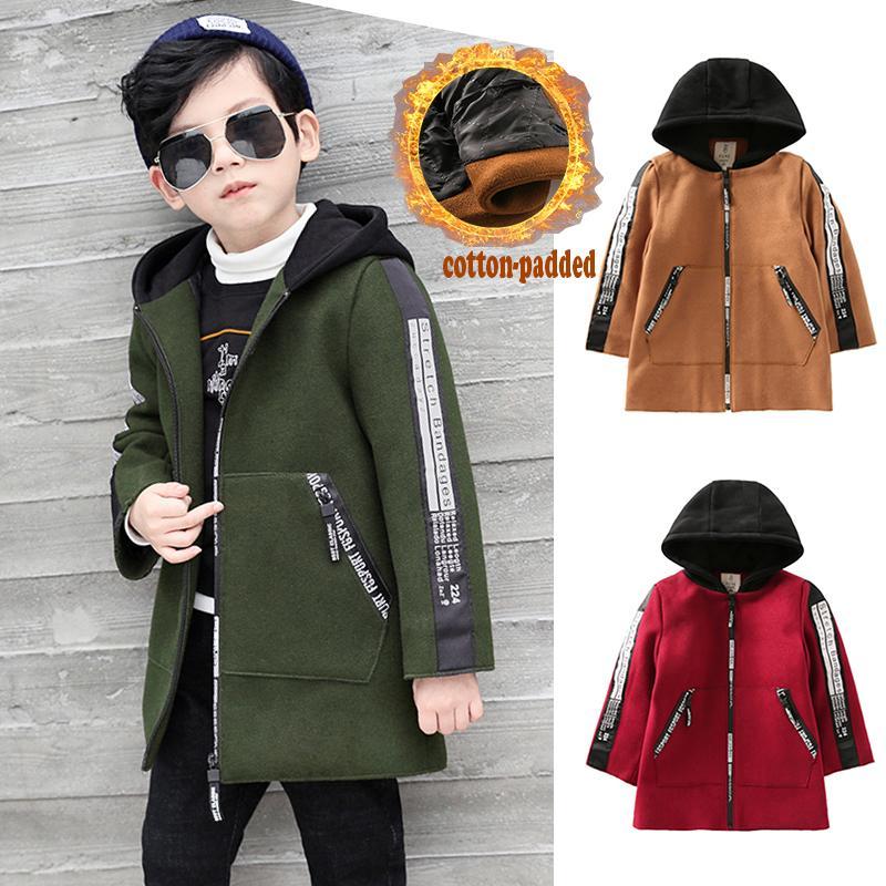 4cb832059ec2 Winter Coat Boy Kids Warm Clothes Child Cotton Padded Overcoat ...