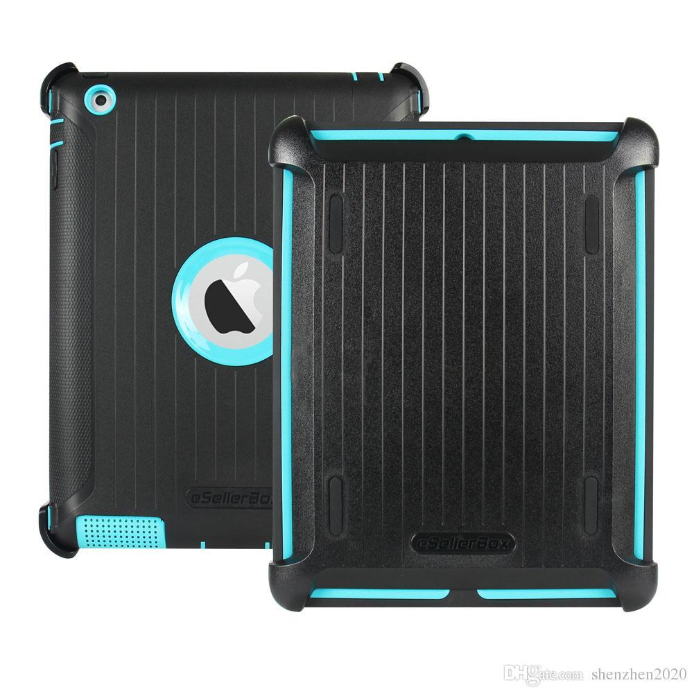 eSellerBox Caso Defensor Para 10.5 ipad pro ipad Air1 ipad Air2 9.7 ipad2.3.4 3 em 1 Casos Capa Protetora DHL Livre Boa Shell 2018