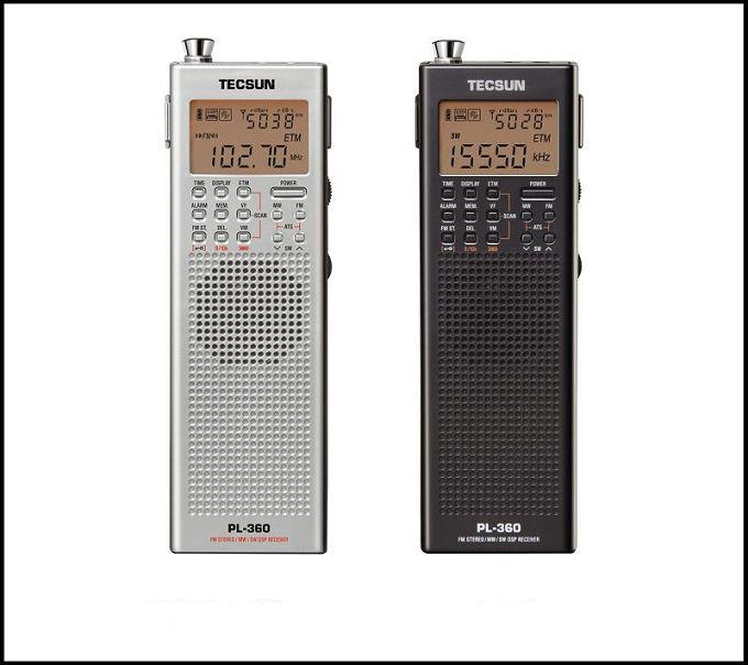 TECSUN Mini Portable Shortwave Radio PL-360 with Antenna ,PLL synthesized  DSP AM/FM/SW/LW/MW World Band Receiver