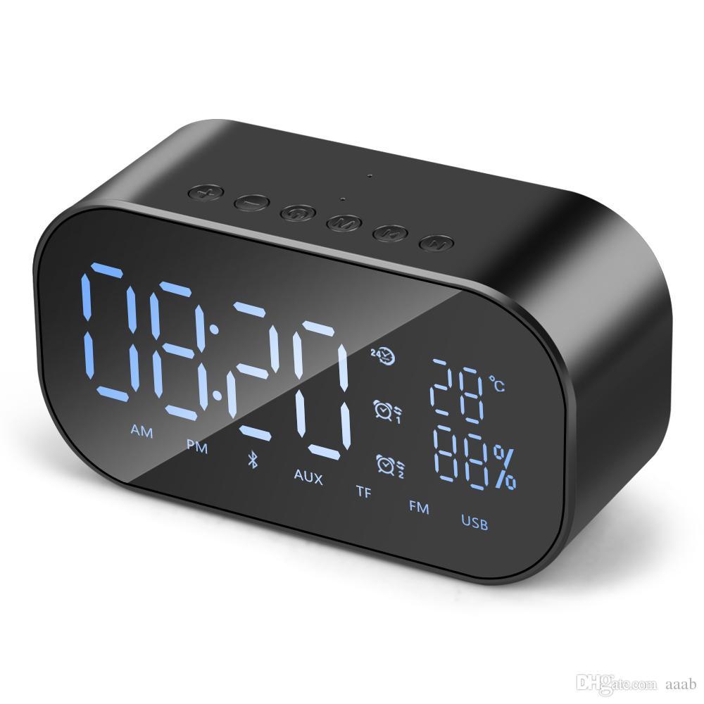 S2 무선 블루투스 스피커 무선 미니 모바일 알람 시계 작은 오디오 컴퓨터 자동차 서브 우퍼 스테레오 사운드