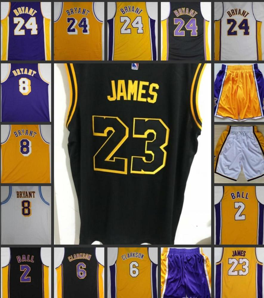 Men  23 LeBron James Jerseys 2 Lonzo Ball 6 Clarkson Basketball Jerseys 8  24 Kobe Bryant Jersey Online with  19.24 Piece on Iseemall s Store  37643aa57