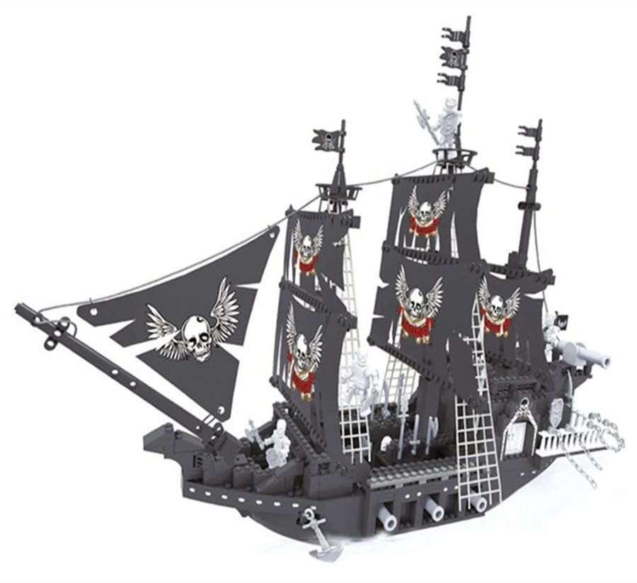 2019 27903 Caribbean Black Pearl 7 Model Building Block Pirate Ship